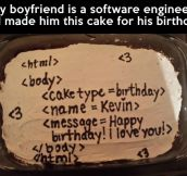 A software engineer's cake…
