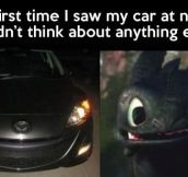 My car at night…