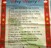 Why even worry?