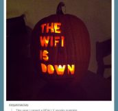 A really spooky pumpkin…