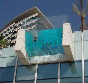 An incredible hanging pool…