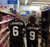 Couple happy as a clam…