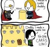 Loki's harsh childhood…