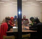 Superhero briefing…