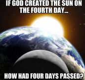 Creationist logic…