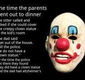 Creepy clown story…