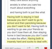 Anxiety and depression…