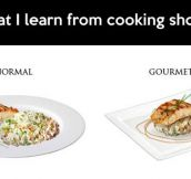 After watching several cooking programs…
