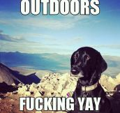 When I'm told to spend more time outdoors…