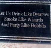 Partying like Hobbits…