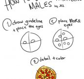 How to draw attractive males…