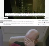 Inefficient elevator…