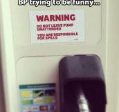 BP humor…