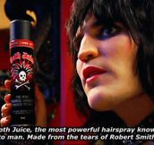 The most powerful hairspray known to man…