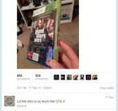 I got the new GTA, oh hold on…