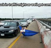 How to deal with a traffic jam…