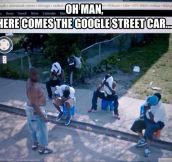 Google Street visits a bad neighborhood…