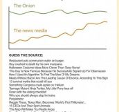 Real news vs. The Onion…