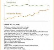Real news vs. The Onion…