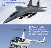 Aerodynamics vs. looks…