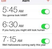Wake up alarms…