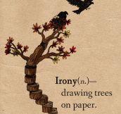True irony…
