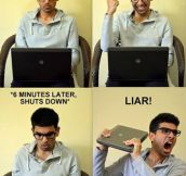 Laptops these days…