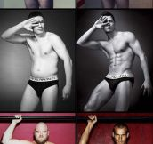 Ordinary men in underwear ads…