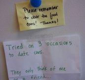 On the fridge at work…