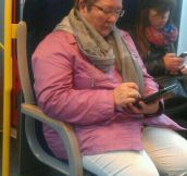 Playing games in the train…