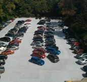 Chaos in the parking lot…