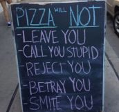 That's why I love pizza so much…