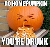 Go home pumpkin…