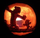 Calvin and Hobbes pumpkin carving…