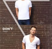 The dos and don'ts of men's fashion…