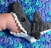 Tiny shark socks…