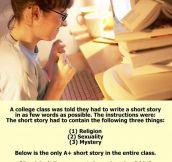 Write a short story…