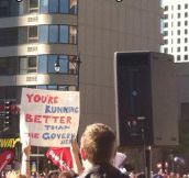 Sign at the Chicago Marathon…
