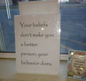 What makes you a better person…