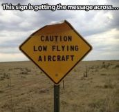 Beware of the plane…