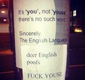 Deer English poofs…