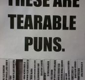 Tearable puns…