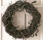 Halloween snake wreath…