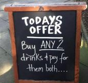 Special offer of the day…