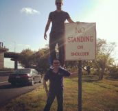 No standing…