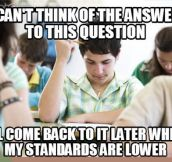 Test taking logic…