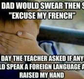 Foreign language…
