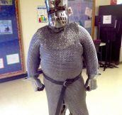 History teacher doesn't mess around…