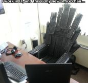 New office chair…