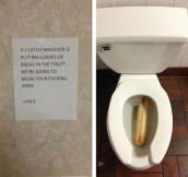 The bread vandal…